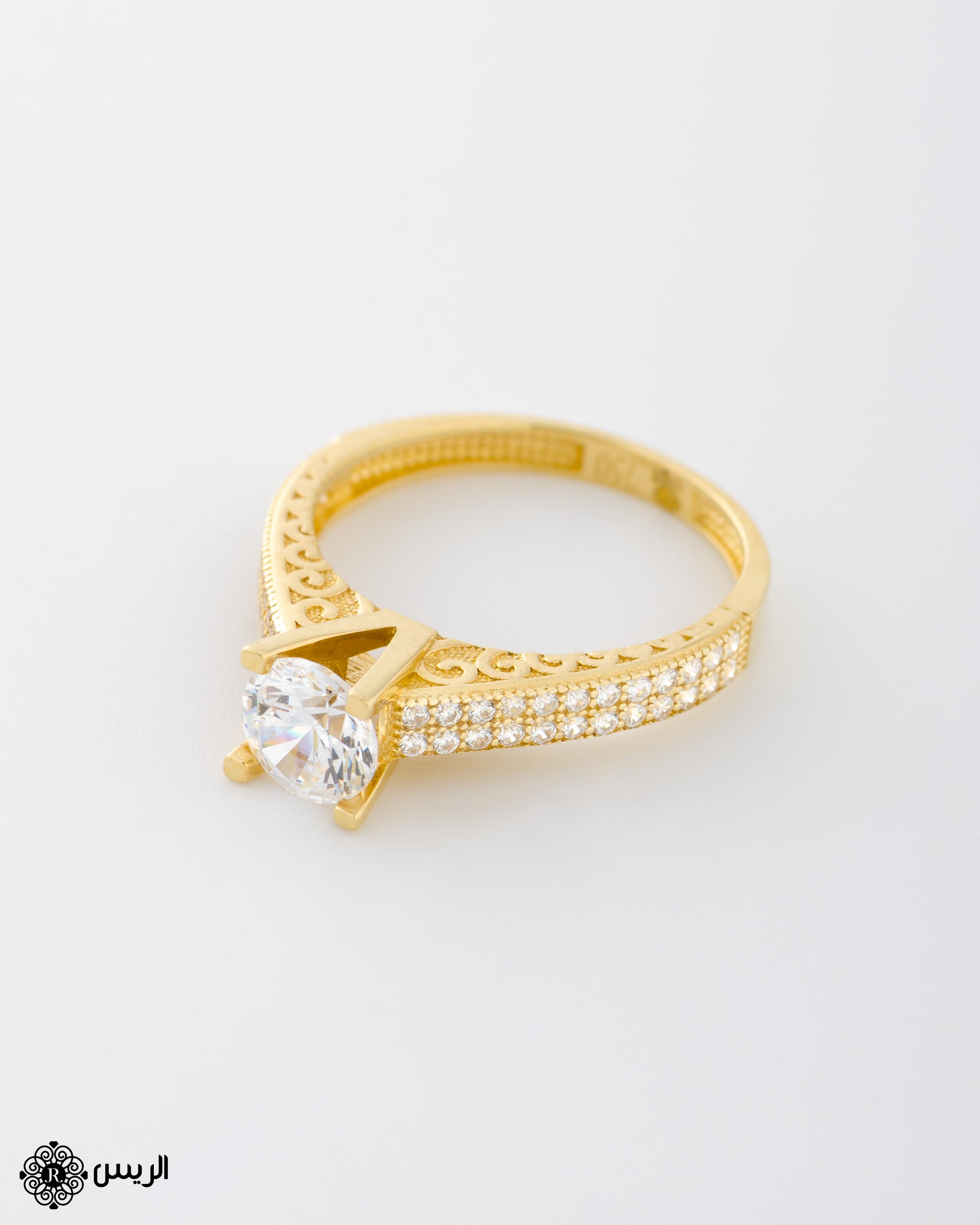Raies jewelry Solitaire Ring خاتم سوليتير الريس للمجوهرات