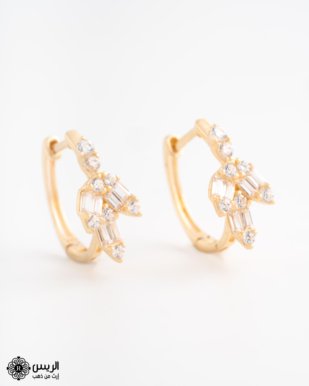 Raies jewelry Elegant (Girlish) Earrings حلق (بناتي) ناعم الريس للمجوهرات
