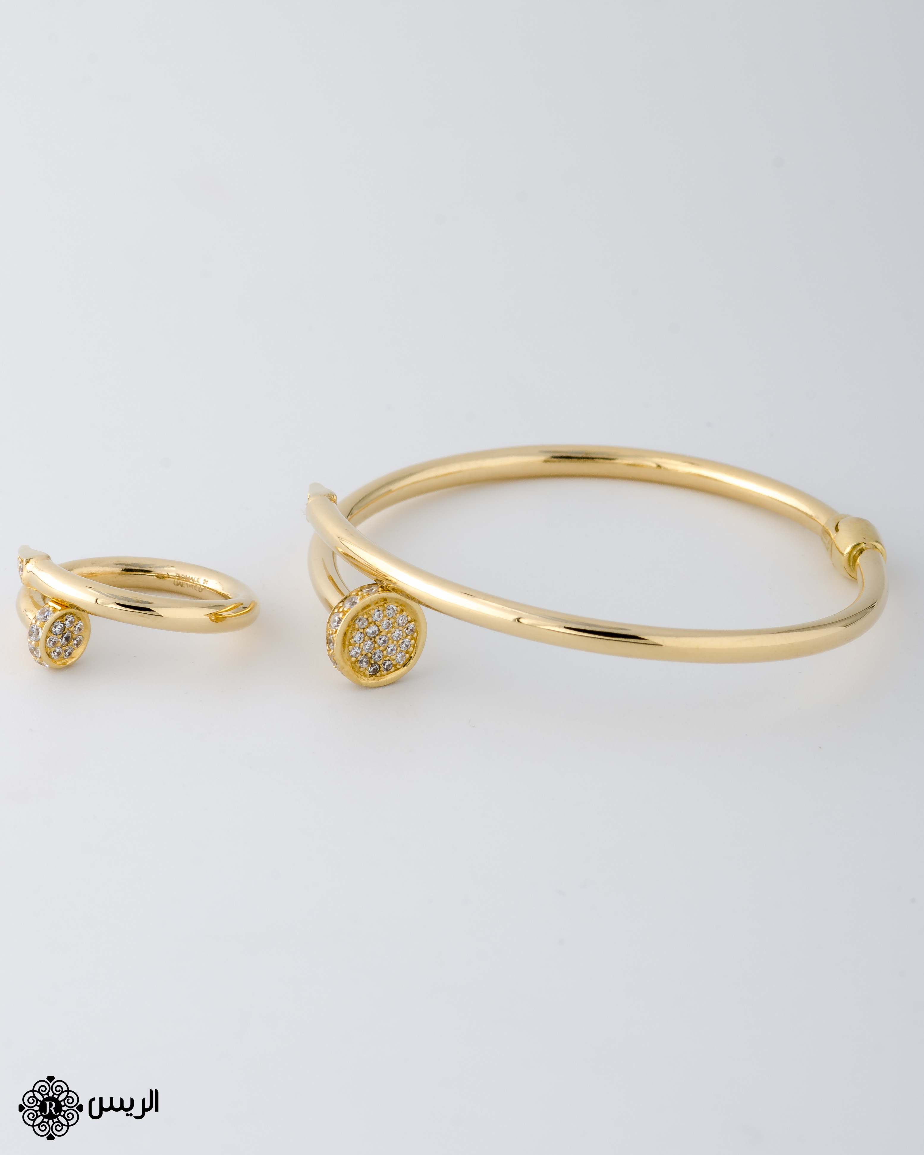 Raies jewelry Bangle Nail with Ring Casual Design إسورة مسمار مع خاتم تصميم سبور الريس للمجوهرات