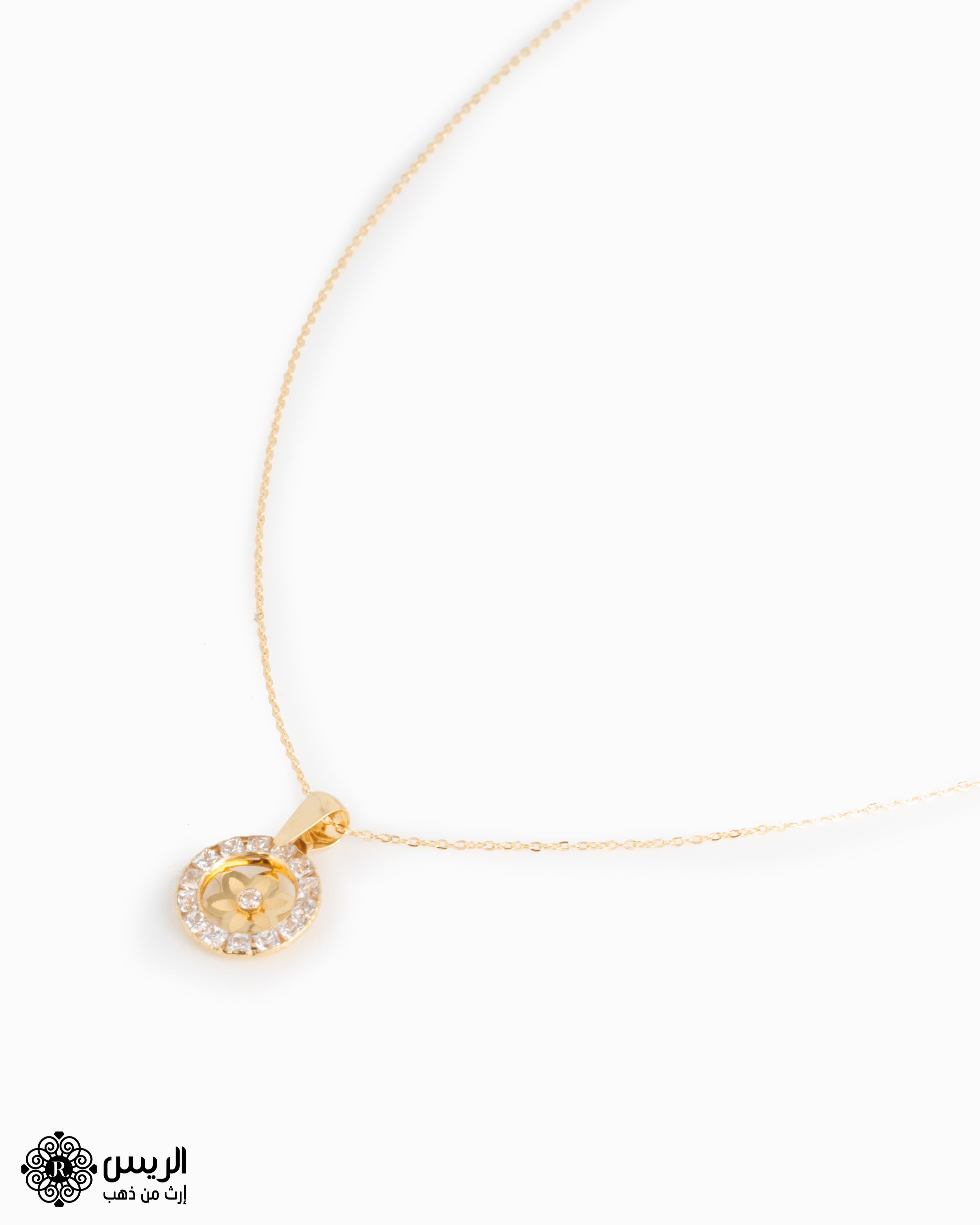 Raies jewelry Pendant with Elegant Chain تعليقة مع سلسله ناعمة الريس للمجوهرات