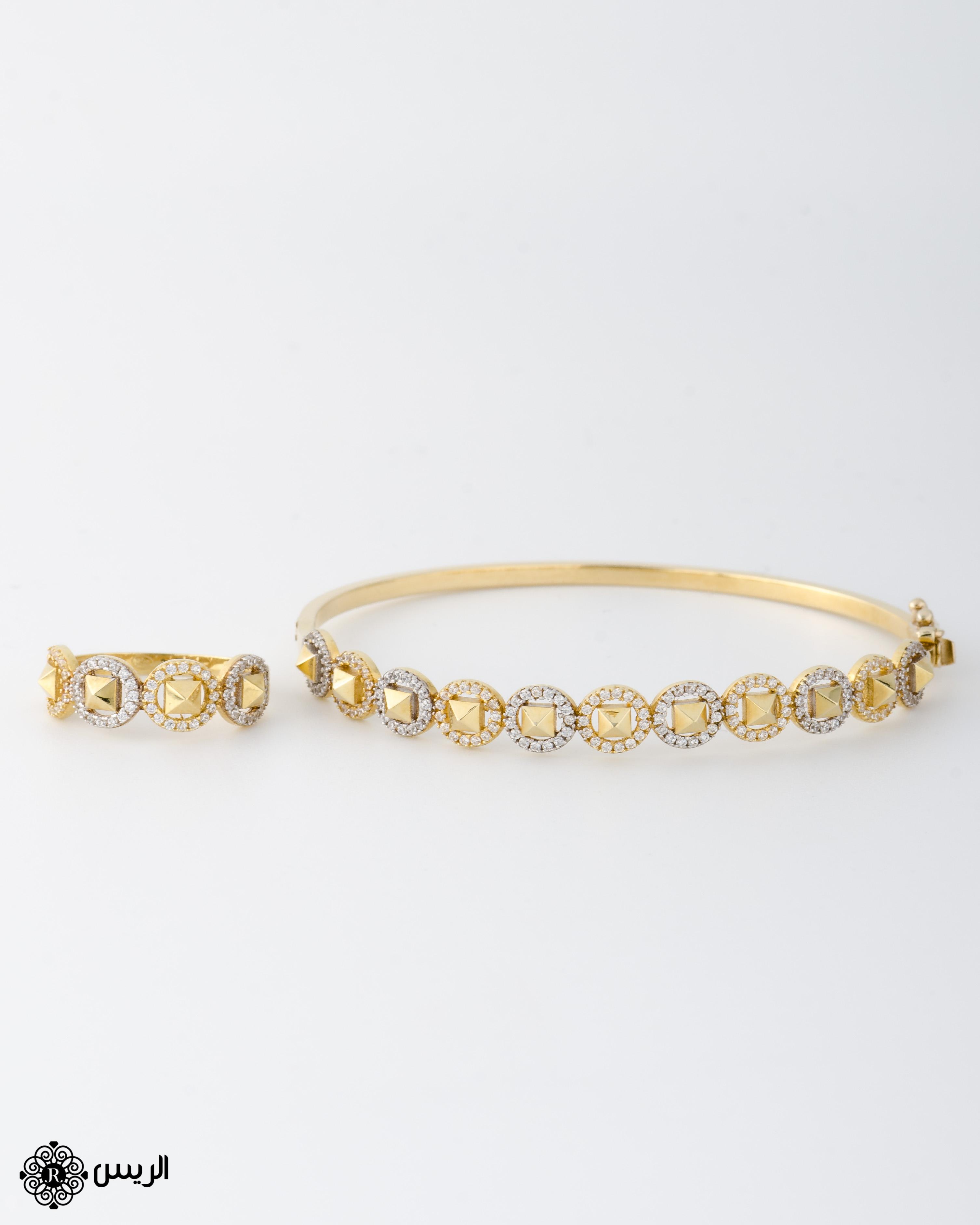 Raies jewelry Bangle with Ring Classic Design إسورة مع خاتم تصميم كلاسيكي الريس للمجوهرات
