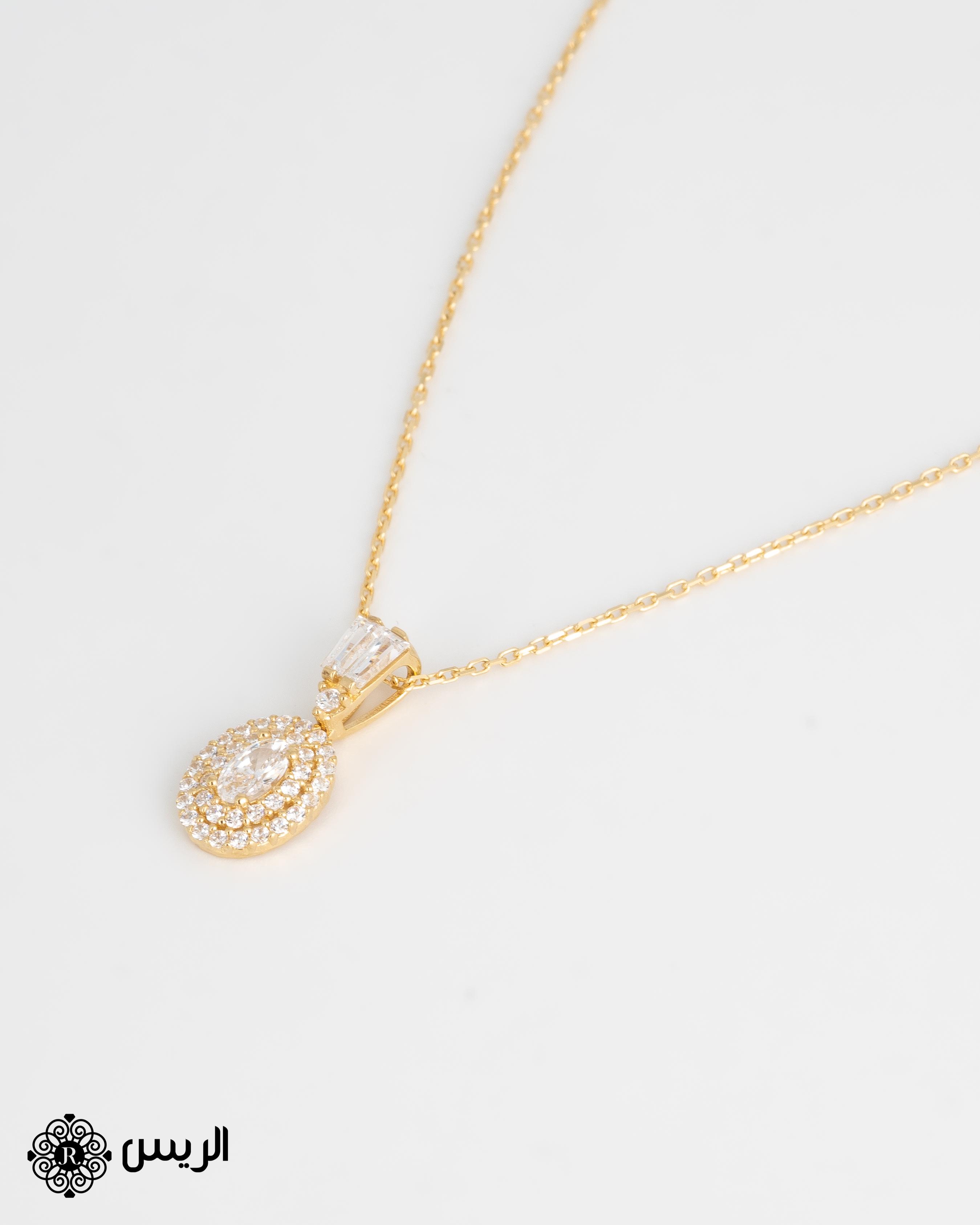 Raies jewelry Pendant with Chain Elegant تعليقة مع سلسله ناعمة الريس للمجوهرات