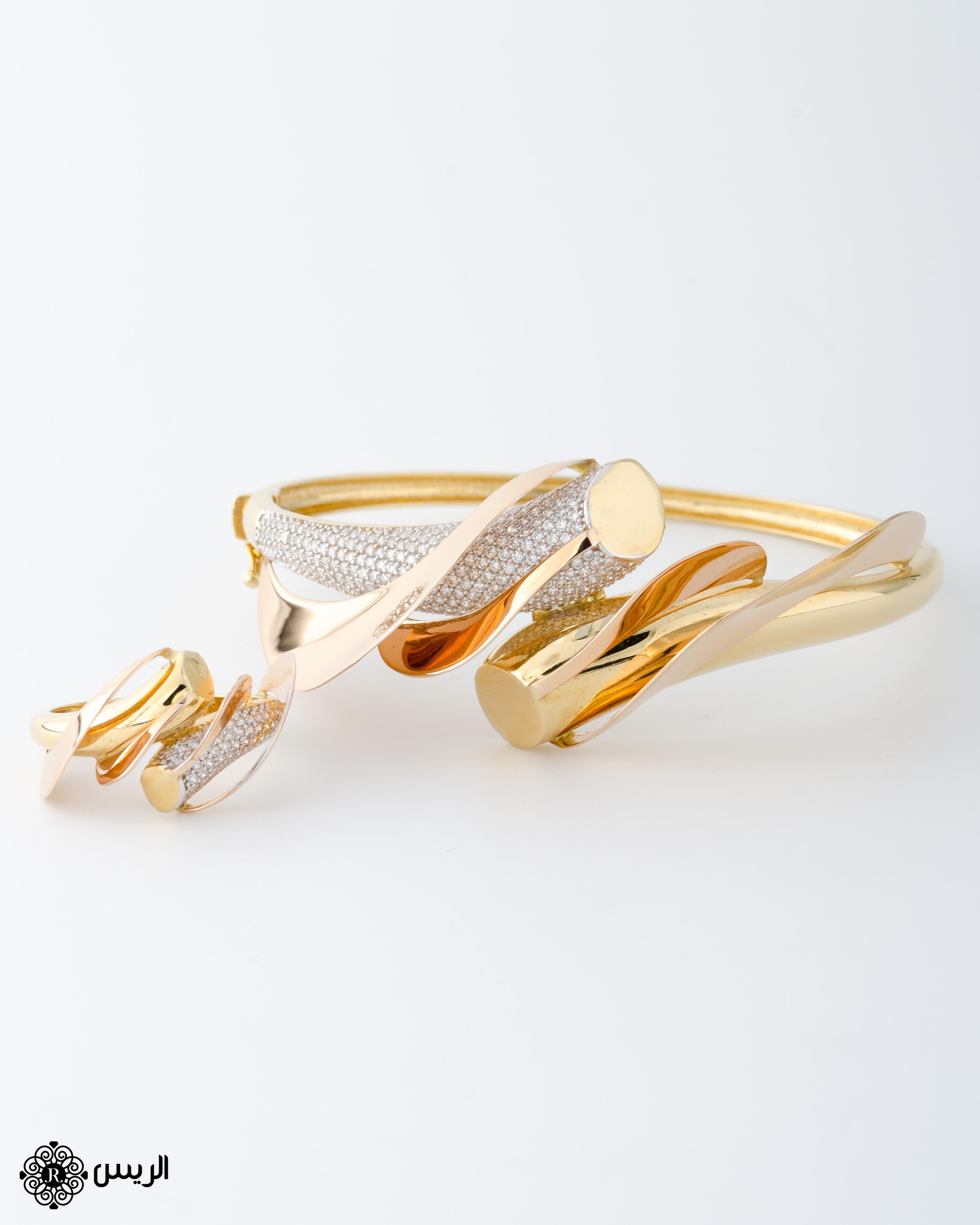 Raies jewelry Bangle with Ring Italian Design إسورة مع خاتم تصميم إيطالي الريس للمجوهرات