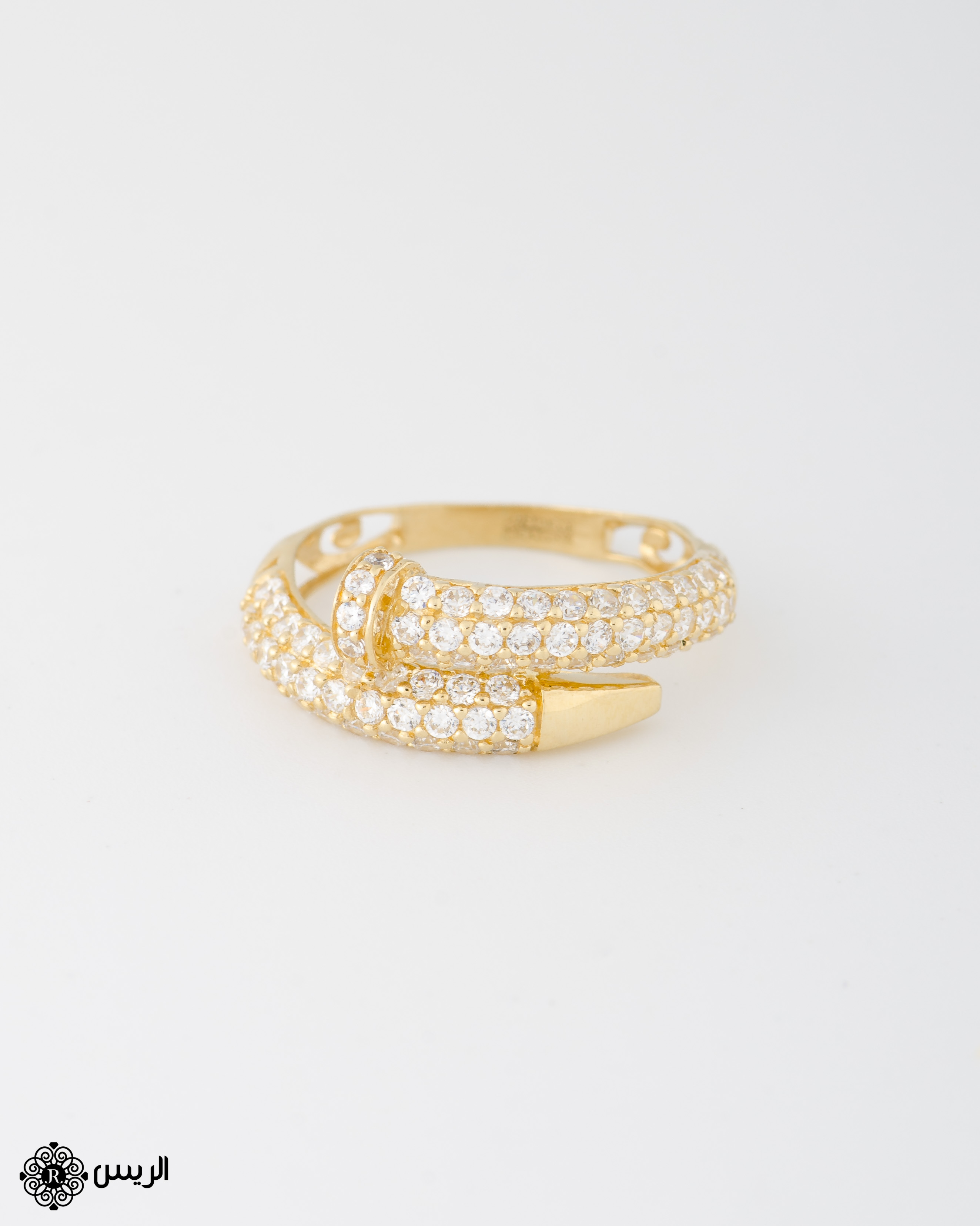 Raies jewelry Delicate Nail Ring خاتم مسمار الريس للمجوهرات