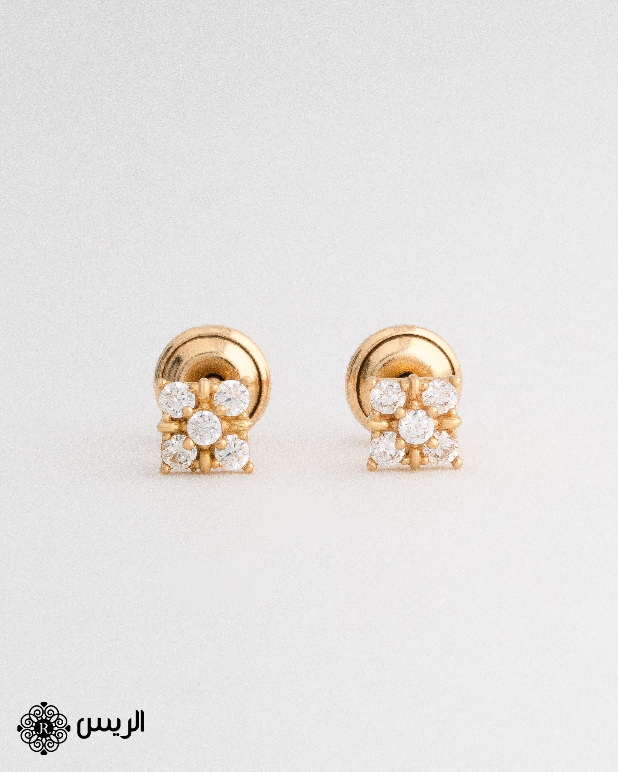 Raies jewelry Kids Earrings with حلق أطفال الريس للمجوهرات