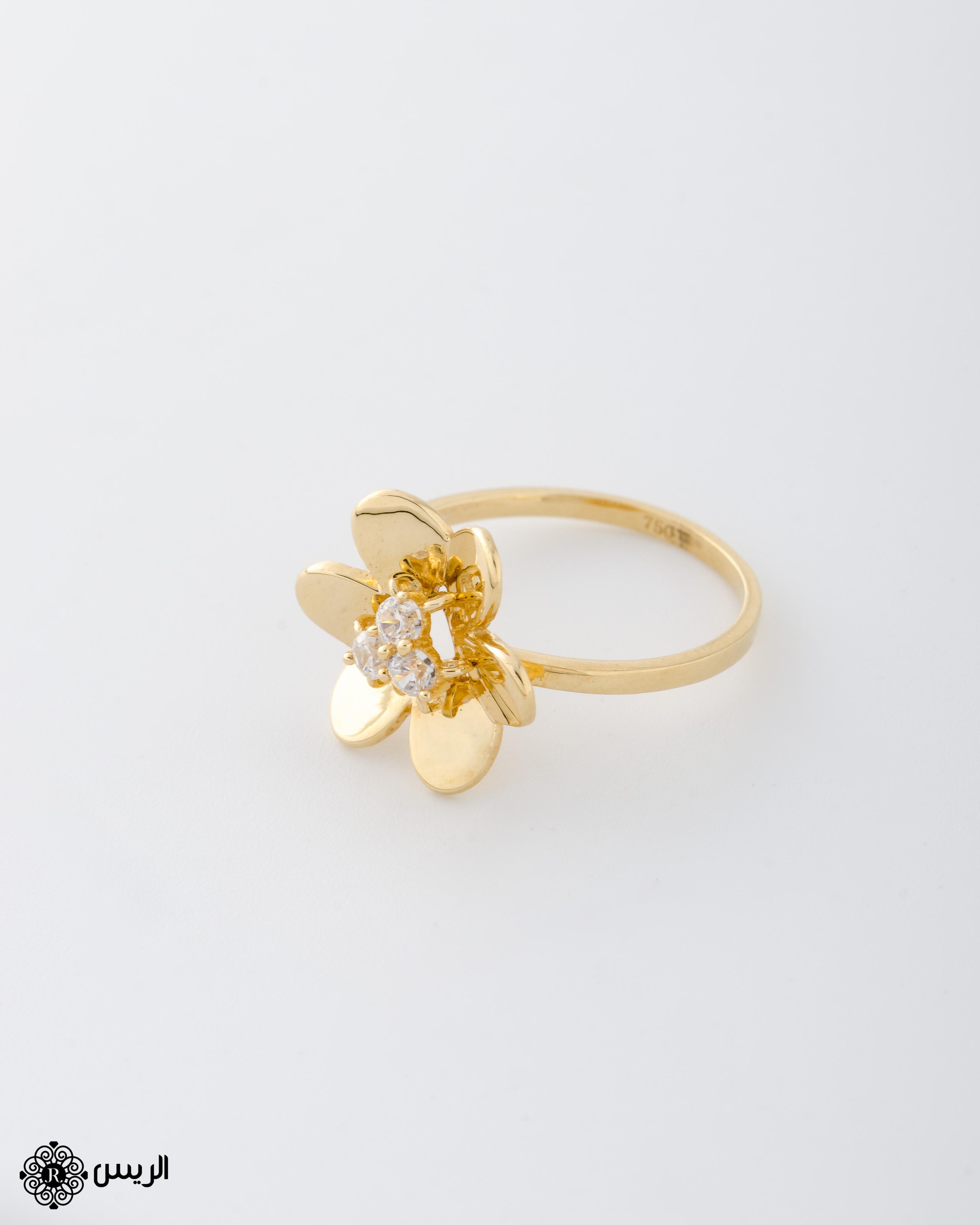 Raies jewelry Italian Design Flower Ring خاتم ورده تصميم إيطالي الريس للمجوهرات