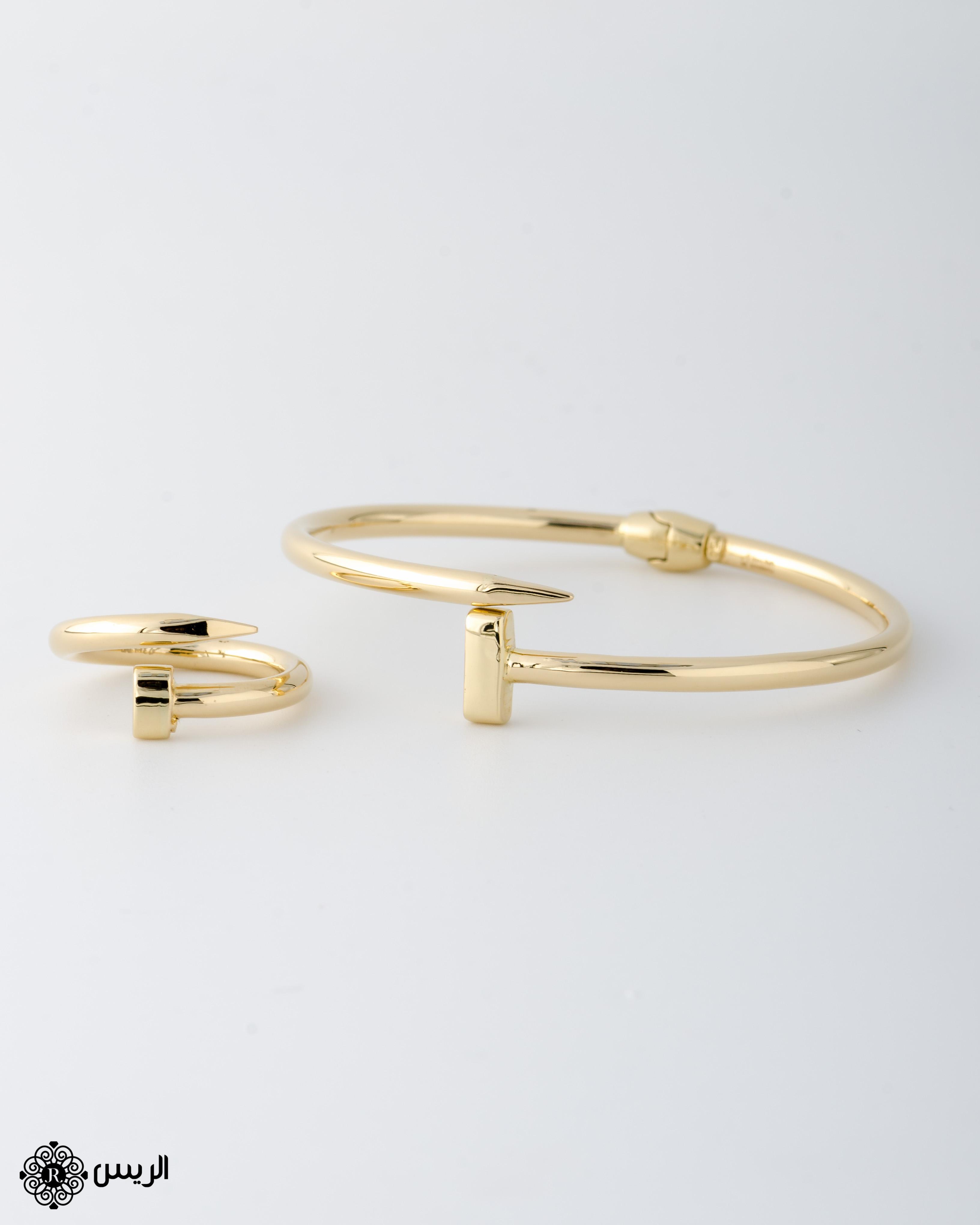 Raies jewelry Bangle with Ring إسورة مسمار مع خاتم الريس للمجوهرات