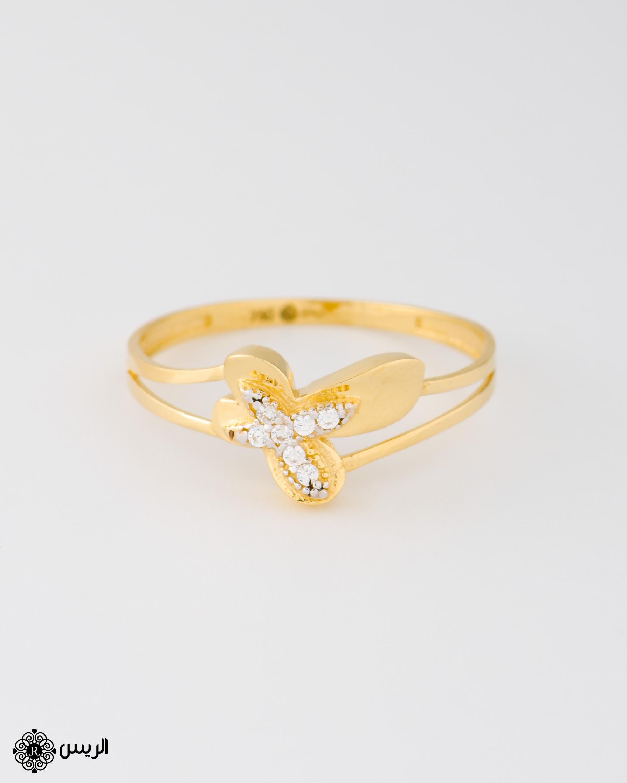 Raies jewelry Delicate Butterfly Ring خاتم  فراشة ناعم الريس للمجوهرات